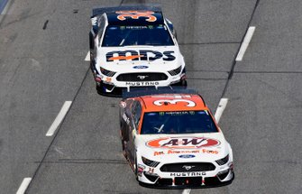 Michael McDowell, Front Row Motorsports, Ford Mustang A&W All American Foods, David Ragan, Front Row Motorsports, Ford Mustang MDS Transport