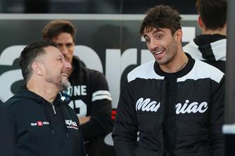 Andrea Iannone, Aprilia Racing Team Gresini, mit Fausto Gresini
