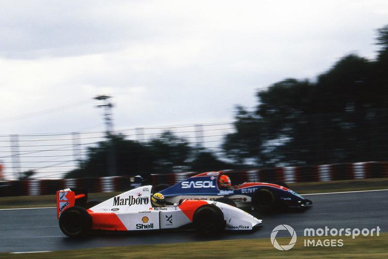 GP de Japón 1993 (Eddie Irvine vs. Ayrton Senna)