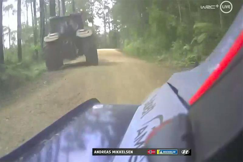 Знімок з кабіни Андреаса Міккельсена та Андерса Егера, Hyundai Motorsport Hyundai i20 Coupe WRC