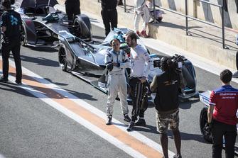 Felipe Massa, Venturi Formula E talks to Jean-Eric Vergne, DS TECHEETAH, DS E-Tense FE19