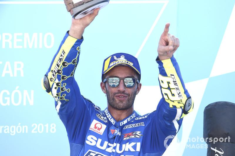 Подіум: третє місце Андреа Янноне, Team Suzuki MotoGP