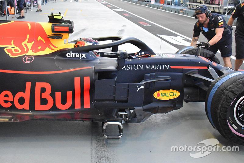 Detalle lateral del Red Bull