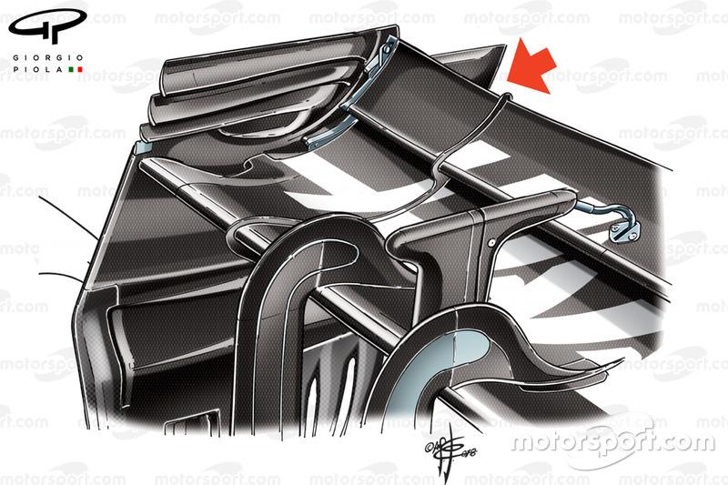 Заднє антикрило Haas VF-18, Гран Прі Бельгії