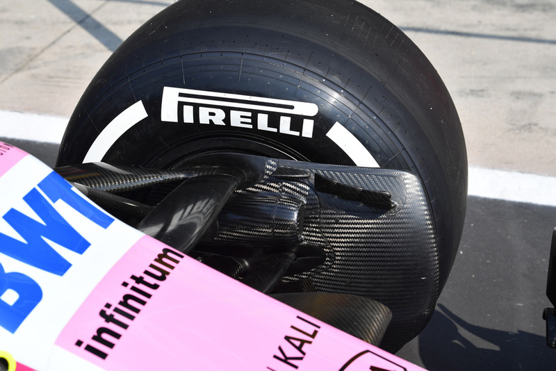 Racing Point Force India VJM11 front brake duct detail