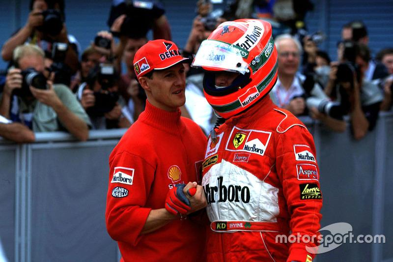 Michael Schumacher, Ferrari con Eddi Irvine, Ferrari