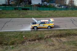 Автомобиль Евгения Новикова и Дмитрия Чумака после пожара, Audi Quattro