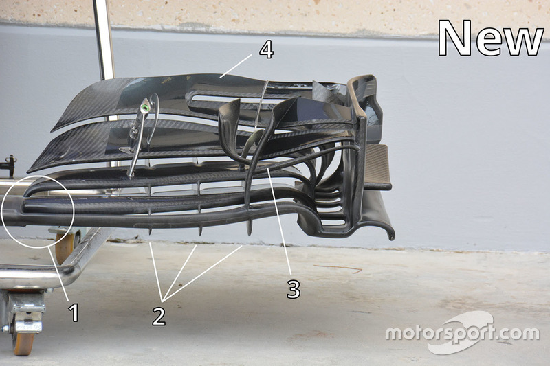 McLaren MP4-31 front wing detail
