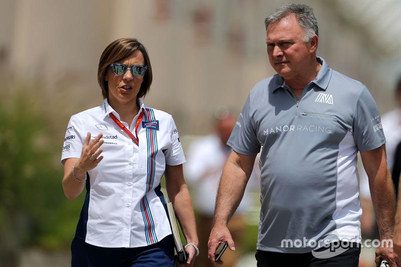 Claire Williams, Williams F1 Team und Dave Ryan, Manor Racing, Renndirketor
