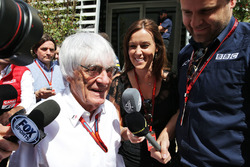 Bernie Ecclestone with the media