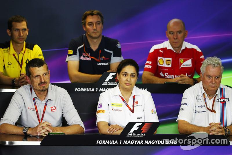 FIA-Pressekonferenz: Remi Taffin, Renault Sport F1; James Key, Scuderia Toro Rosso; Jock Clear, Ferr