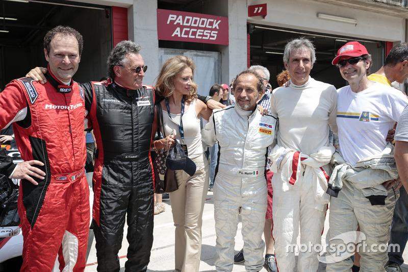 Aldo Costa, Mercedes AMG F1 Teknik Direktörü, Gabriele Tredozi, Pierluigi Martini ve Paolo Barilla