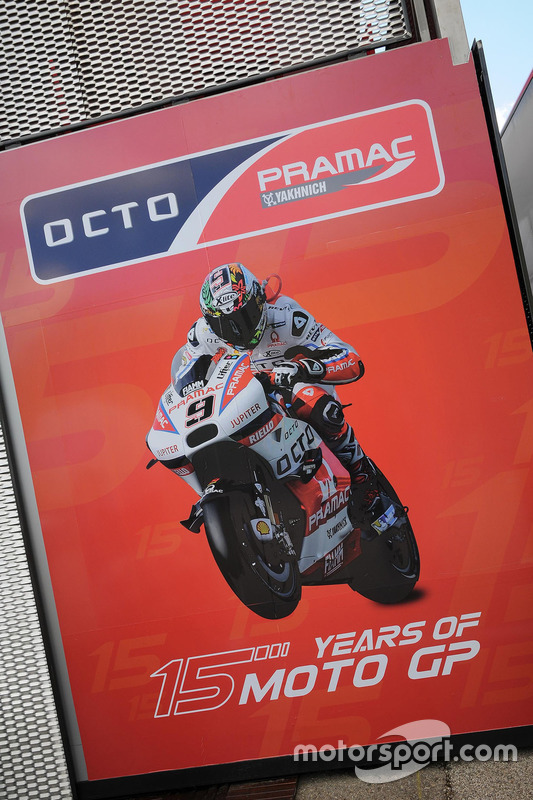 Le motorhome du team Pramac Racing