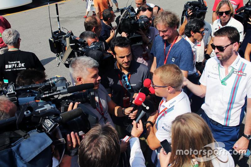 Valtteri Bottas, Williams medya ile