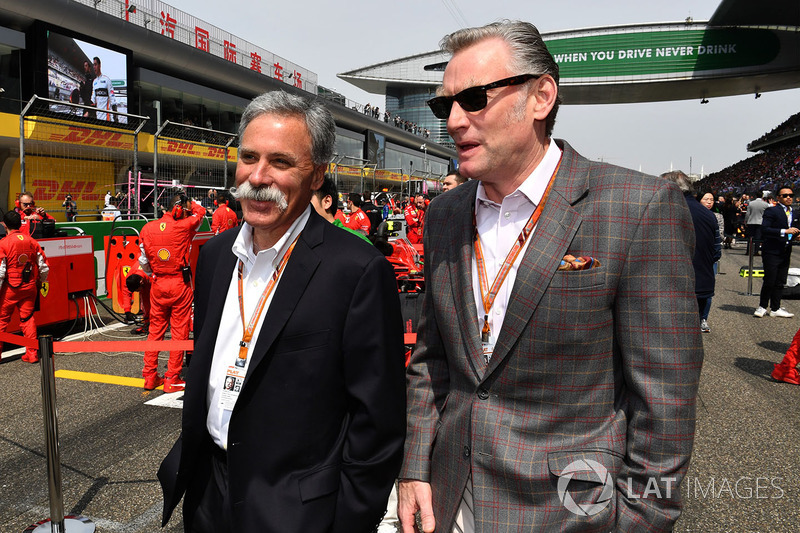 Chase Carey, Chief Executive Officer and Executive Chairman of the Formula One Group and Sean Bratch