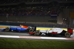 Esteban Ocon, Manor MRT05 y Esteban Gutiérrez, Haas VF-16