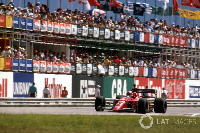 Ganador del GP de Brasil 1989: Nigel Mansell, Ferrari 640