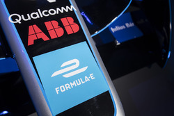 ABB logos on the new livery of the Formula E