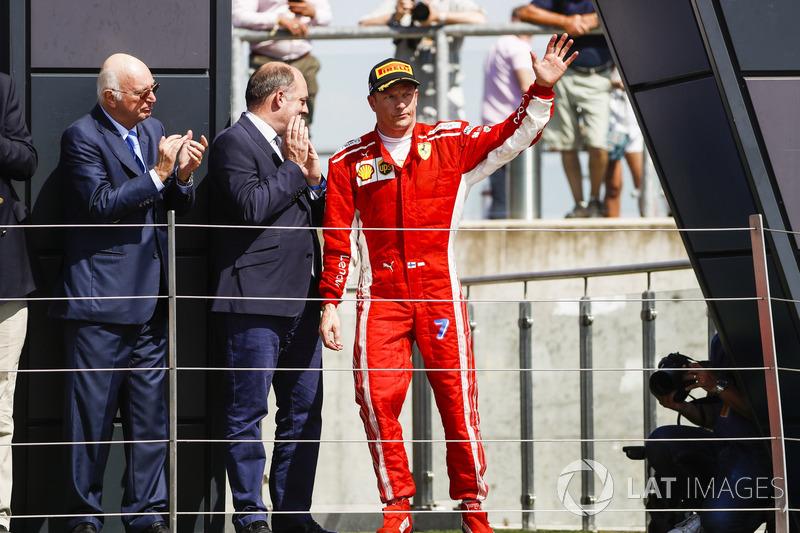 97-й подиум в карьере позволил Кими Райкконену сравняться по этому показателю с Фернандо Алонсо. Два пилота делят пятое место в историческом списке. Испанец последний раз был на призовом пьедестале на Гран При Венгрии в 2014-м.