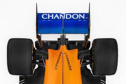 McLaren MCL33, dettaglio dell'ala posteriore