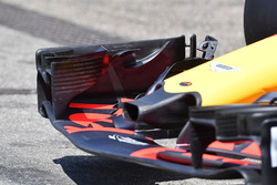 Detalle del alerón delantero del Red Bull Racing RB14