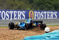 Giancarlo Fisichella, Renault R26 spins