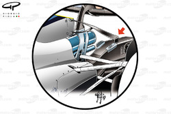 Williams FW40 lower T-wing