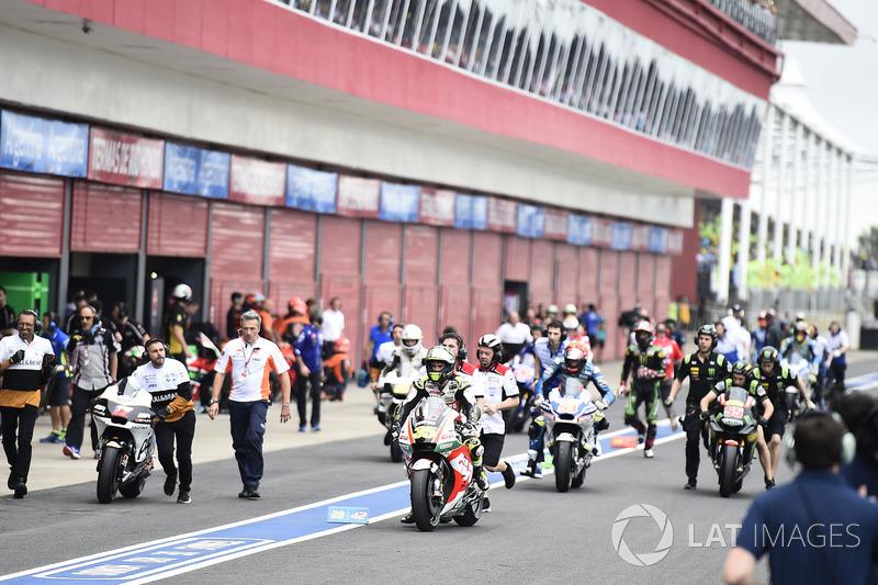 Cal Crutchlow, Team LCR Honda, race start fiasco