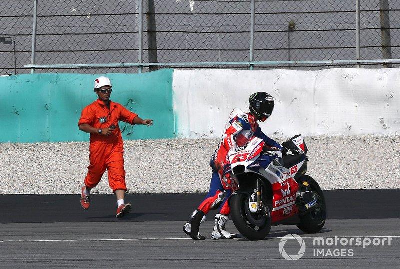 Francesco Bagnaia après sa chute