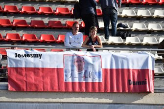 Fans banner for Robert Kubica, Williams Racing