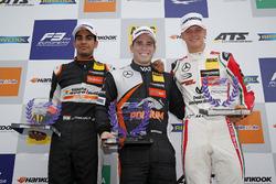 Rookie podium: Winner Joey Mawson, Van Amersfoort Racing, Dallara F317 - Mercedes-Benz, second place Jehan Daruvala, Carlin, Dallara F317 - Volkswagen, third place Mick Schumacher, Prema Powerteam, Dallara F317 - Mercedes-Benz