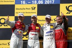 Podium: 1. René Rast, Audi Sport Team Rosberg, Audi RS 5 DTM; 2. Mattias Ekström, Audi Sport Team Abt Sportsline, Audi A5 DTM; 3. Maxime Martin, BMW Team RBM, BMW M4 DTM
