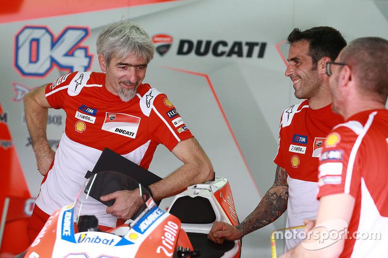 Andrea Dovizioso, Ducati Team; Gigi Dall'Igna, Ducati Teammanager