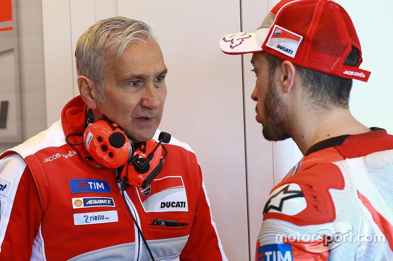 Andrea Dovizioso, Ducati Team; Davide Tardozzi, Ducati Team, Teamchef