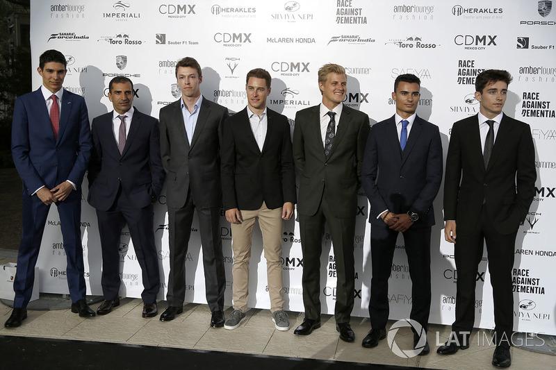 Эстебан Окон, Sahara Force India F1, Марк Жене, Ferrari, Даниил Квят, Scuderia Toro Rosso, Стоффель Вандорн, McLaren, Маркус Эрикссон, Sauber, Паскаль Верляйн, Sauber, Шарль Леклер, Prema Racing