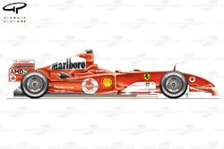 Ferrari F2004M side view
