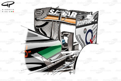 Force India VJM07 rear wing detail
