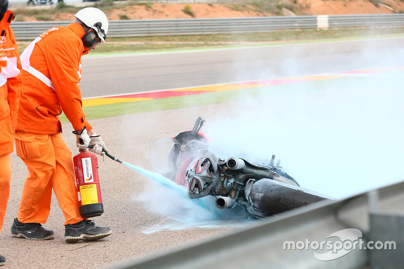 Xavi Forés, Barni Racing Team after a big fire