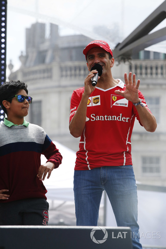 Marc Gene, Ferrari, speaks from the stage