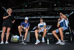 Esteban Ocon, Sahara Force India, Lance Stroll, Williams and Felipe Massa, Williams on stage