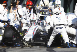 Lance Stroll, Williams FW40, in the pits