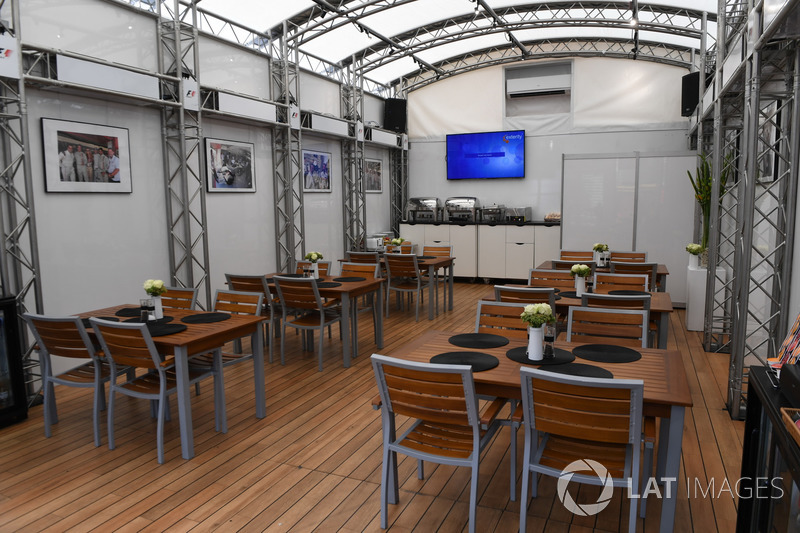 F1 Experiences motorhome and hospitality