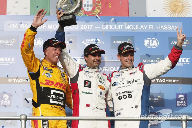 Podium WTCC Trophy: 1. Mehdi Bennani, Sébastien Loeb Racing, Citroën C-Elysée WTCC; 2. Tom Coronel, Roal Motorsport, Chevrolet RML Cruze TC1; 3. Tom Chilton, Sébastien Loeb Racing, Citroën C-Elysée WTCC