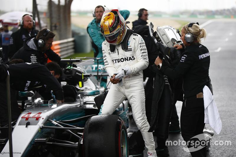 Lewis Hamilton, Mercedes AMG, on the grid