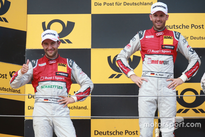 Podio: Ganador de la carrera René Rast, Audi Sport Team Rosberg, Audi RS 5 DTM, segundo lugar Mike Rockenfeller, Audi Sport Team Phoenix, Audi RS 5 DTM
