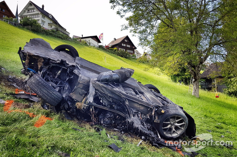 Rimac Concept One van Richard Hammond na crash