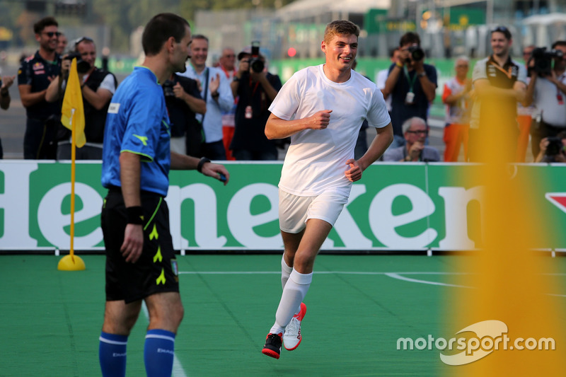 Heineken charity football game, Max Verstappen, Red Bull Racing