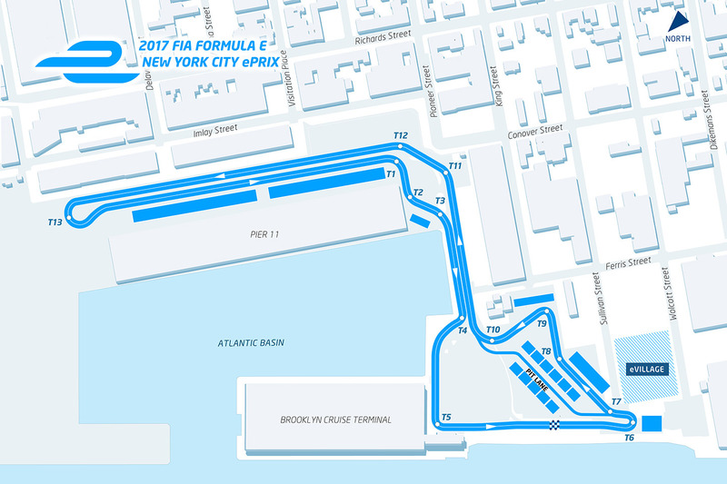 Streckenlayout, New York ePrix
