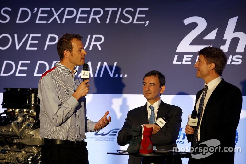 Прес-конференція ACO:  головний маршал Алекс Вюрц;  президент ACO П'єр Фійон