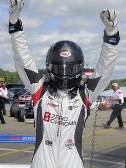 Race winner Cameron Das